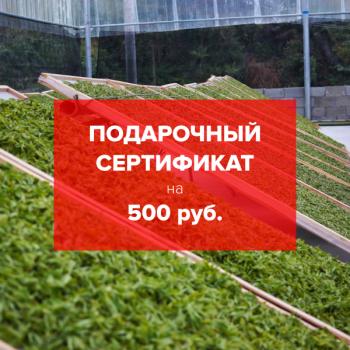 Подарочный сертификат на чай 500 рублей