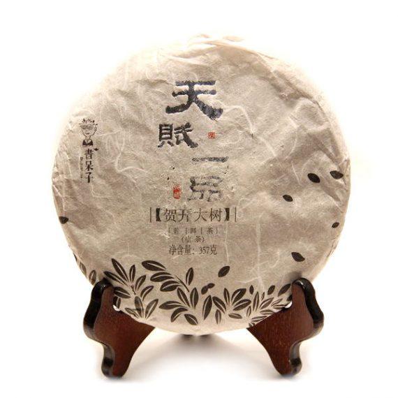 """Шэн пуэр """"Тянь Фу Ипинь Хэ Кай Да Шу"""" 357 г. (2012 г.)"""