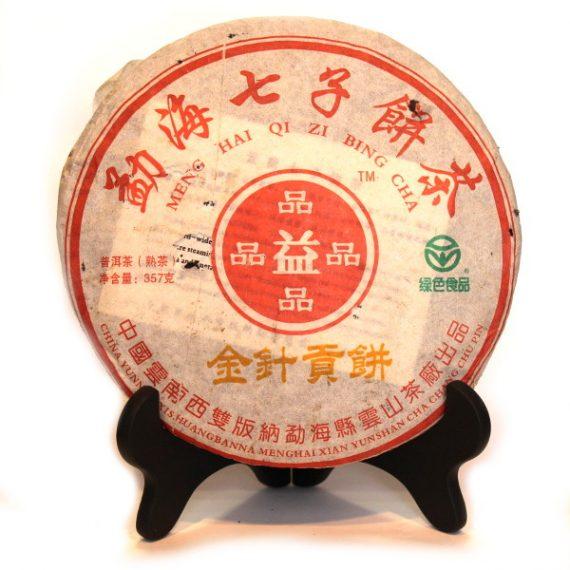 """Шу пуэр """"Цзинь Чжэнь Гун Бин"""" блин 357 г. (2009 г.)"""