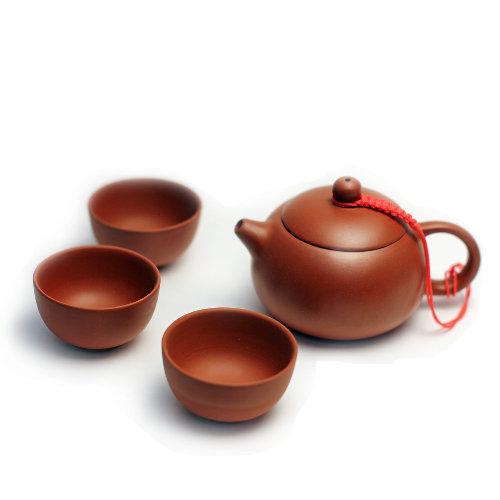 """Чайник из глины """"Си Ши"""" #1 и пиалы"""