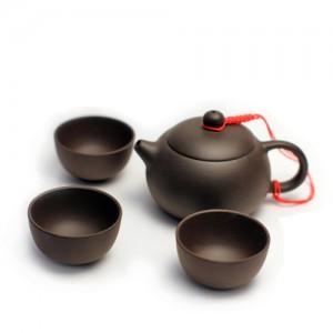 """Чайник из глины """"Си Ши"""" #2 и пиалы 1"""